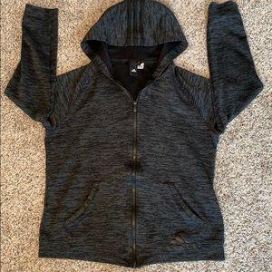 Adidas boys gray knit hoodie jacket size M 12-14.